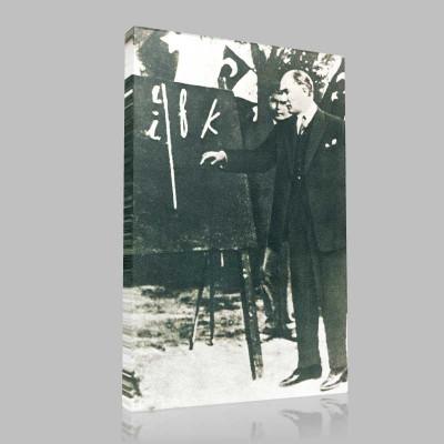 Siyah Beyaz Atatürk Resimleri  230 Kanvas Tablo