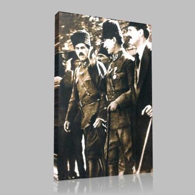 Siyah Beyaz Atatürk Resimleri  233 Kanvas Tablo