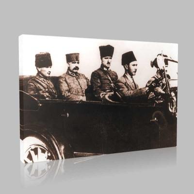 Siyah Beyaz Atatürk Resimleri  235 Kanvas Tablo