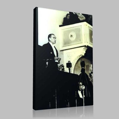 Siyah Beyaz Atatürk Resimleri  236 Kanvas Tablo