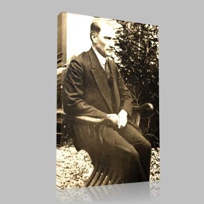 Siyah Beyaz Atatürk Resimleri  237 Kanvas Tablo