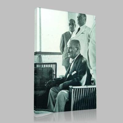 Siyah Beyaz Atatürk Resimleri  239 Kanvas Tablo