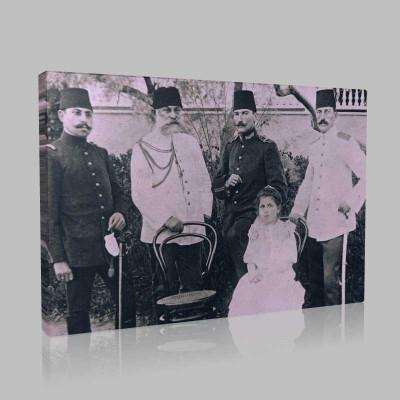Siyah Beyaz Atatürk Resimleri  24 Kanvas Tablo