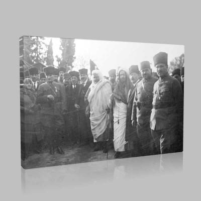Siyah Beyaz Atatürk Resimleri  241 Kanvas Tablo
