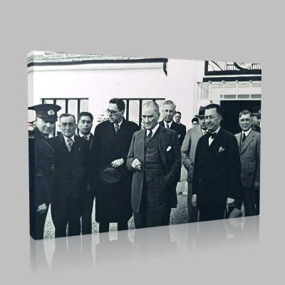 Siyah Beyaz Atatürk Resimleri  243 Kanvas Tablo
