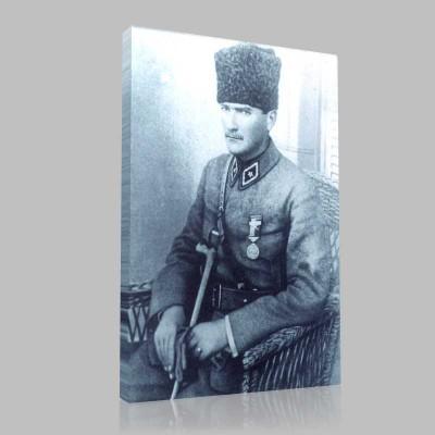 Siyah Beyaz Atatürk Resimleri  244 Kanvas Tablo