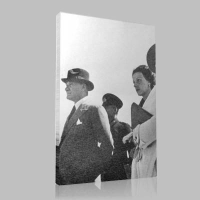 Siyah Beyaz Atatürk Resimleri  246 Kanvas Tablo