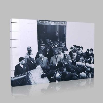 Siyah Beyaz Atatürk Resimleri  248 Kanvas Tablo