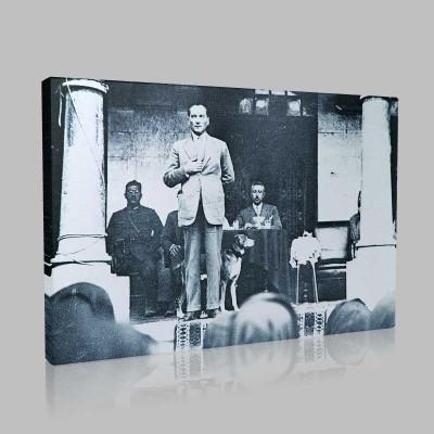 Siyah Beyaz Atatürk Resimleri  249 Kanvas Tablo
