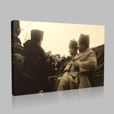 Siyah Beyaz Atatürk Resimleri  252 Kanvas Tablo