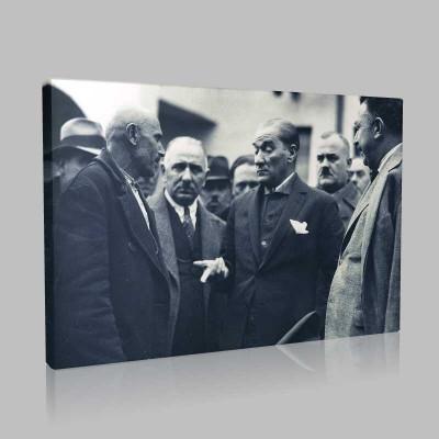 Siyah Beyaz Atatürk Resimleri  253 Kanvas Tablo