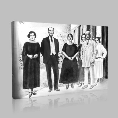 Siyah Beyaz Atatürk Resimleri  254 Kanvas Tablo