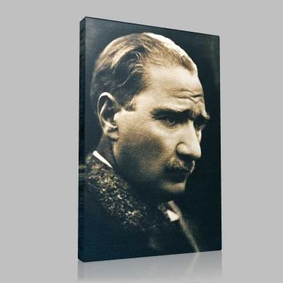 Siyah Beyaz Atatürk Resimleri  258 Kanvas Tablo