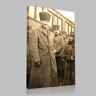 Siyah Beyaz Atatürk Resimleri  259 Kanvas Tablo