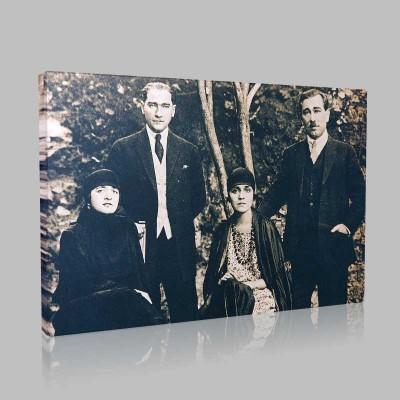 Siyah Beyaz Atatürk Resimleri  26 Kanvas Tablo