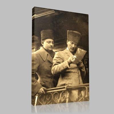 Siyah Beyaz Atatürk Resimleri  262 Kanvas Tablo