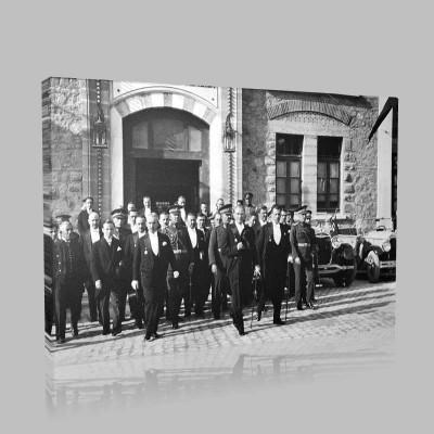 Siyah Beyaz Atatürk Resimleri  263 Kanvas Tablo