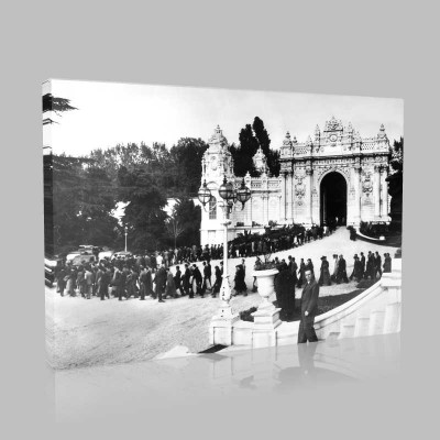 Siyah Beyaz Atatürk Resimleri  264 Kanvas Tablo