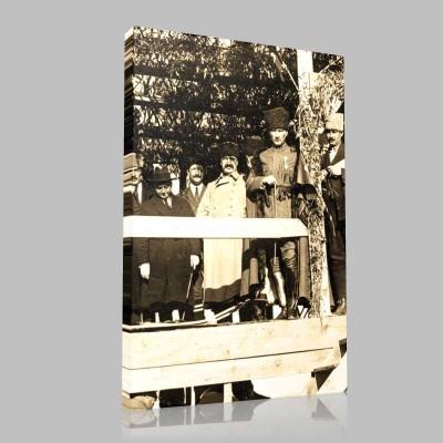 Siyah Beyaz Atatürk Resimleri  265 Kanvas Tablo