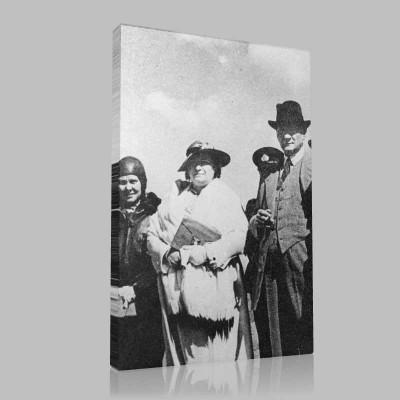 Siyah Beyaz Atatürk Resimleri  267 Kanvas Tablo