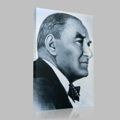 Siyah Beyaz Atatürk Resimleri  268 Kanvas Tablo