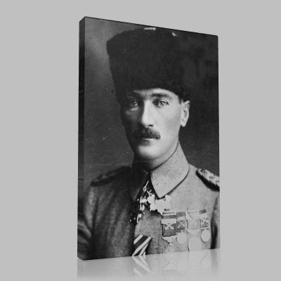 Siyah Beyaz Atatürk Resimleri  269 Kanvas Tablo