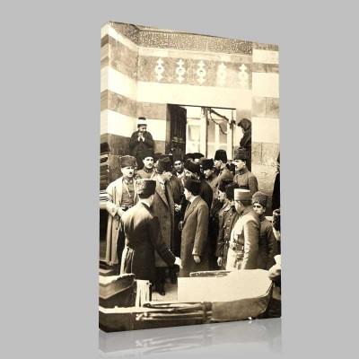 Siyah Beyaz Atatürk Resimleri  270 Kanvas Tablo