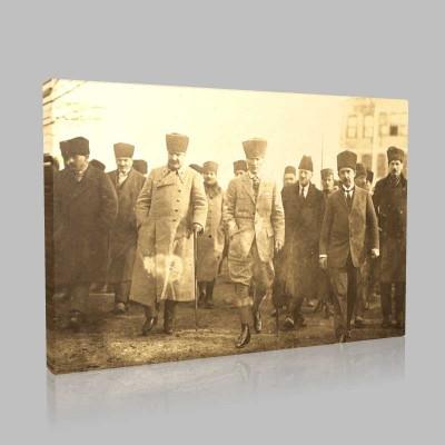 Siyah Beyaz Atatürk Resimleri  271 Kanvas Tablo