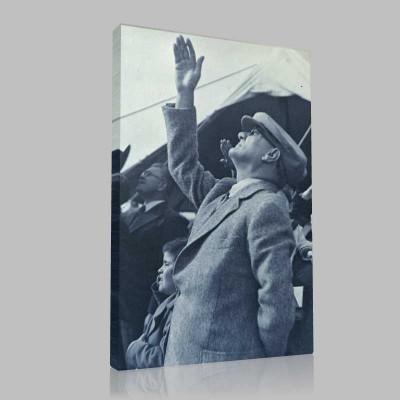 Siyah Beyaz Atatürk Resimleri  272 Kanvas Tablo