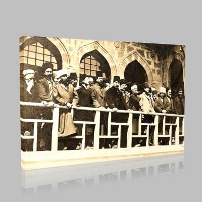 Siyah Beyaz Atatürk Resimleri  273 Kanvas Tablo