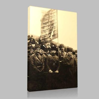 Siyah Beyaz Atatürk Resimleri  274 Kanvas Tablo