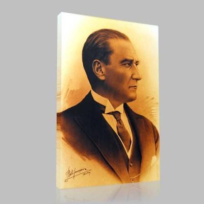 Siyah Beyaz Atatürk Resimleri  275 Kanvas Tablo