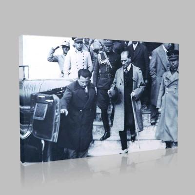 Siyah Beyaz Atatürk Resimleri  277 Kanvas Tablo