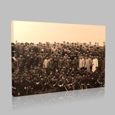 Siyah Beyaz Atatürk Resimleri  278 Kanvas Tablo