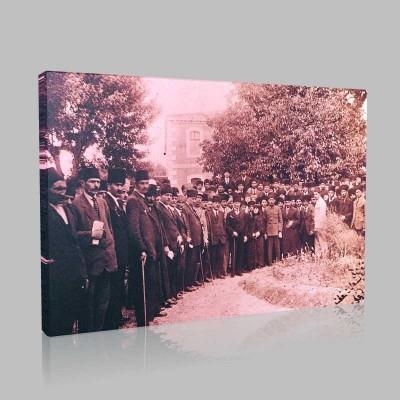 Siyah Beyaz Atatürk Resimleri  28 Kanvas Tablo