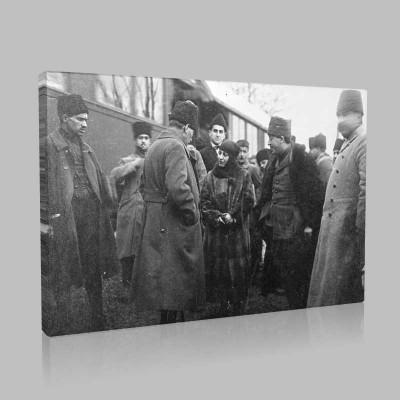 Siyah Beyaz Atatürk Resimleri  280 Kanvas Tablo