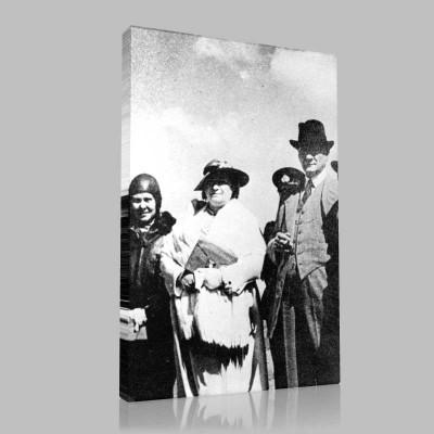 Siyah Beyaz Atatürk Resimleri  281 Kanvas Tablo
