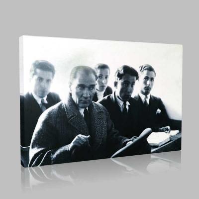 Siyah Beyaz Atatürk Resimleri  282 Kanvas Tablo