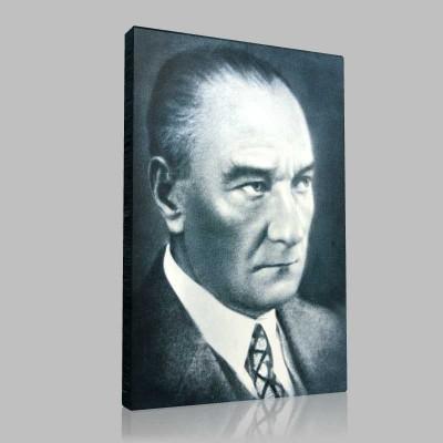 Siyah Beyaz Atatürk Resimleri  285 Kanvas Tablo