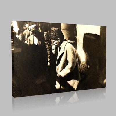 Siyah Beyaz Atatürk Resimleri  286 Kanvas Tablo