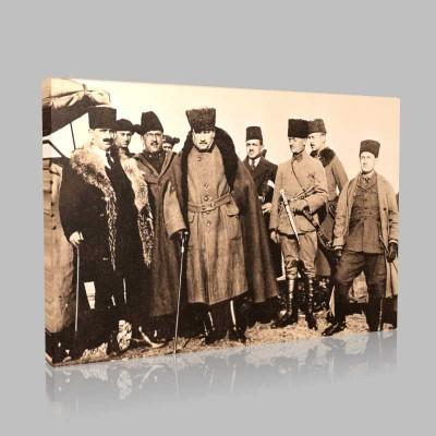 Siyah Beyaz Atatürk Resimleri  287 Kanvas Tablo