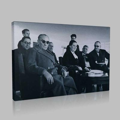 Siyah Beyaz Atatürk Resimleri  289 Kanvas Tablo