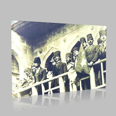 Siyah Beyaz Atatürk Resimleri  29 Kanvas Tablo