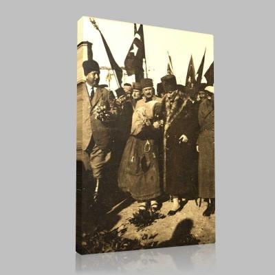 Siyah Beyaz Atatürk Resimleri  291 Kanvas Tablo