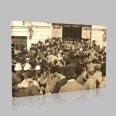 Siyah Beyaz Atatürk Resimleri  292 Kanvas Tablo