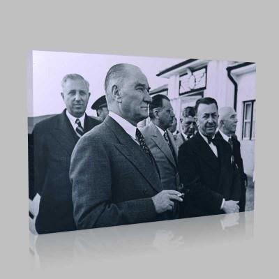 Siyah Beyaz Atatürk Resimleri  293 Kanvas Tablo