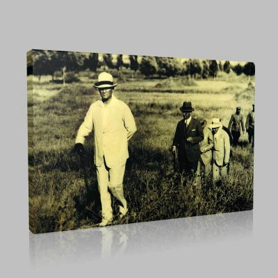 Siyah Beyaz Atatürk Resimleri  295 Kanvas Tablo