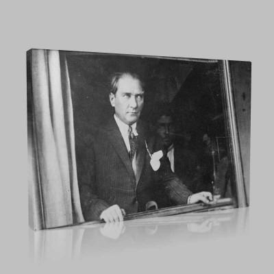 Siyah Beyaz Atatürk Resimleri  296 Kanvas Tablo