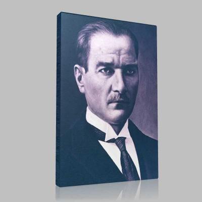 Siyah Beyaz Atatürk Resimleri  298 Kanvas Tablo