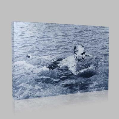 Siyah Beyaz Atatürk Resimleri  299 Kanvas Tablo